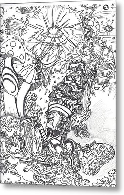 Black N White Metal Print by Justin Chase