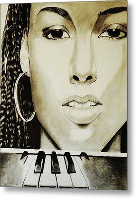Black N White Keyz Metal Print by Saheed Fawehinmi