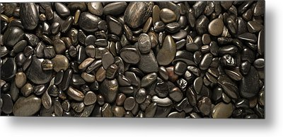 Black River Stones Landscape Metal Print by Steve Gadomski