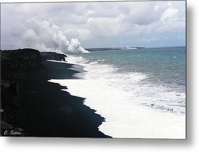 Black Sand Beach Metal Print by C Sitton