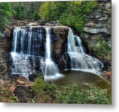 Metal Print featuring the photograph Black Water Falls by Mark Dodd