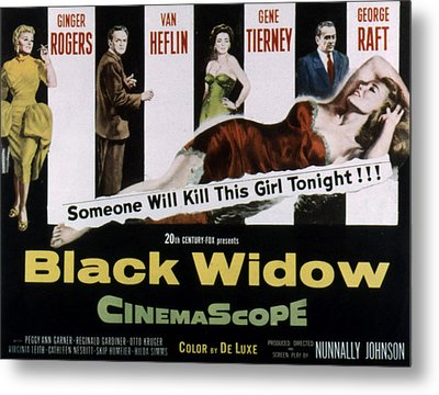 Black Widow, Ginger Rogers, Van Heflin Metal Print by Everett
