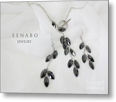 Black Zircon Metal Print by Eena Bo