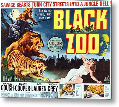Black Zoo, Middle Right Michael Gough Metal Print by Everett
