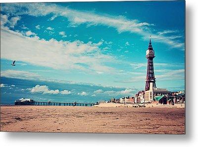 Blackpool Tower And Pier Metal Print by Michelle McMahon