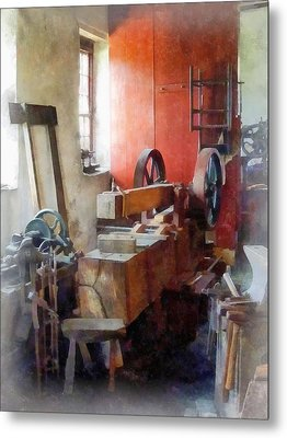 Blacksmith Shop Near Windows Metal Print by Susan Savad