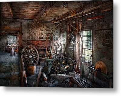 Blacksmith - That's A Lot Of Hoopla Metal Print by Mike Savad