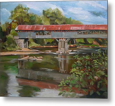 Blair Bridge Campton New Hampshire Metal Print by Nancy Griswold