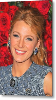 Blake Lively At Arrivals For Momas 4th Metal Print by Everett