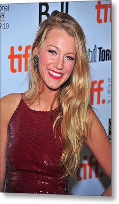 Blake Lively At Arrivals For The Town Metal Print by Everett