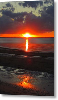 Metal Print featuring the photograph Blazing Sunset by Ramona Johnston