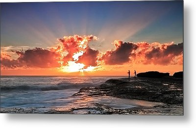 Blessed Fishermen Metal Print by Mark Lucey