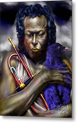Blessings And Curses - Miles Davis Metal Print by Reggie Duffie