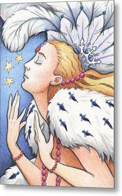 Blissful Winter Metal Print by Amy S Turner
