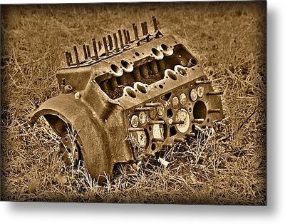 Blocked Out Metal Print by Shane Bechler