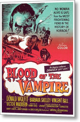 Blood Of The Vampire, Donald Wolfit Metal Print by Everett