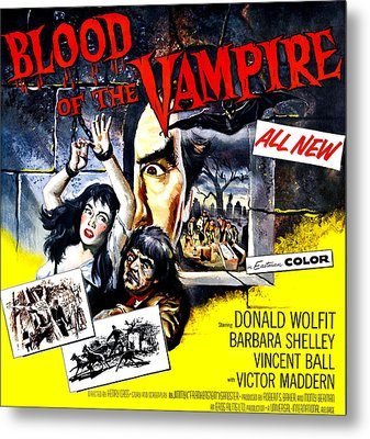 Blood Of The Vampire, From Left Barbara Metal Print by Everett
