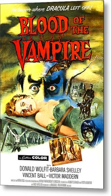 Blood Of The Vampire, Woman On Table Metal Print by Everett