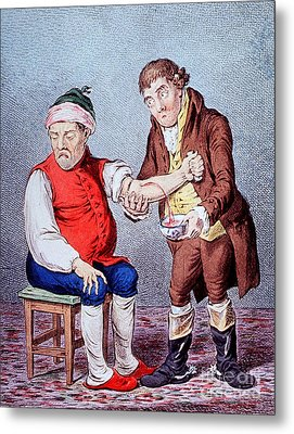 Bloodletting-1804 Metal Print by Science Source