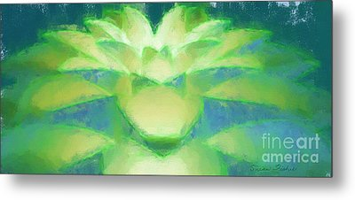 Metal Print featuring the drawing Bloom Luminata by Susan Fisher
