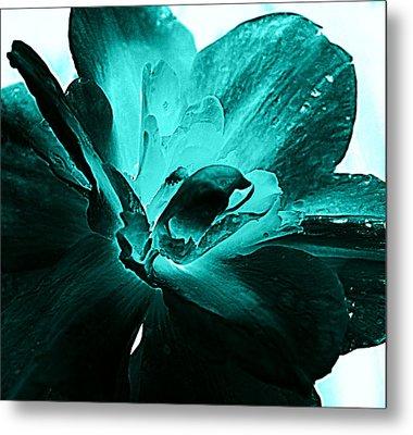 Blooming Blue Metal Print