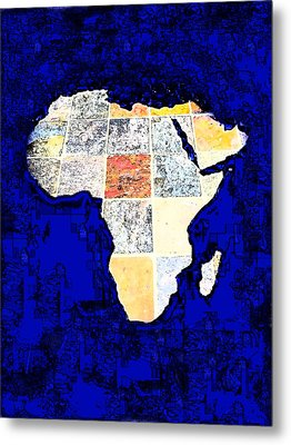 Metal Print featuring the photograph Blue Africa by Anne Mott