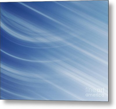 Blue And White Linear Background Metal Print by Blink Images