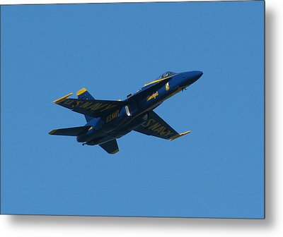 Metal Print featuring the photograph Blue Angel Solo by Samuel Sheats