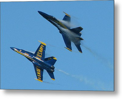 Blue Angels Break Metal Print by Samuel Sheats
