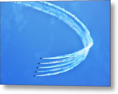 Metal Print featuring the photograph Blue Angels by Kelly Reber