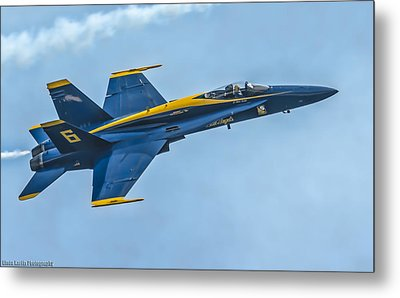 Metal Print featuring the photograph Blue Angels by Linda Karlin