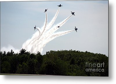 Blue Angels Star Burst Metal Print by Kevin Fortier