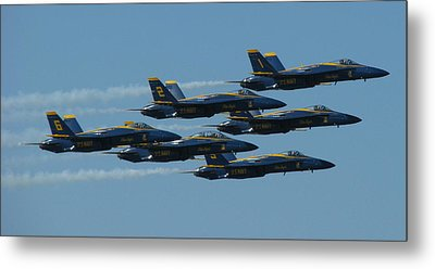 Metal Print featuring the photograph Blue Angels Take 6 by Samuel Sheats