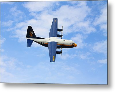 Blue Angles C130 Metal Print by Kevin Schrader
