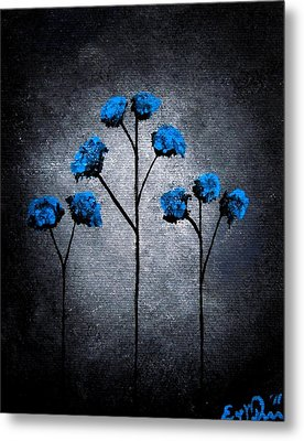 Blue Beauties Metal Print by Oddball Art Co by Lizzy Love
