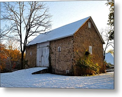 Blue Bell Barn Metal Print by Bill Cannon