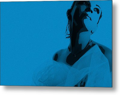 Blue Bride Metal Print by Naxart Studio