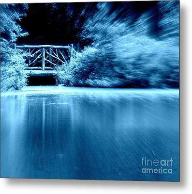 Blue Bridge Metal Print by Maria Scarfone