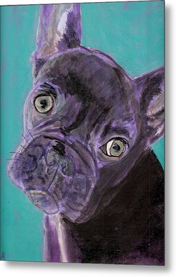 Blue Brownie Metal Print