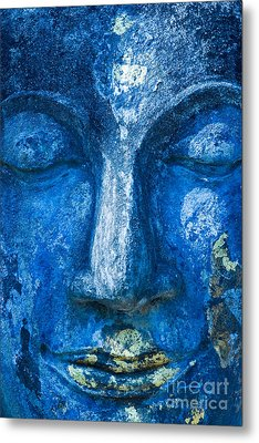Metal Print featuring the photograph Blue Buddha  by Luciano Mortula