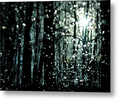 Blue Burns The Twilight Metal Print by Rebecca Sherman