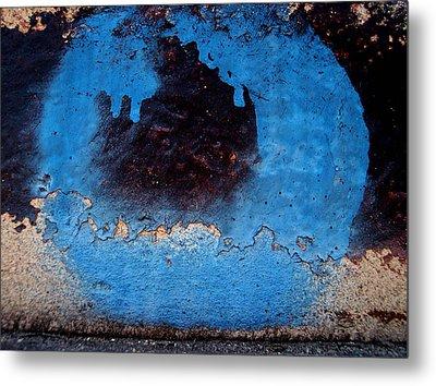 Blue Circle  Metal Print by Ludmil Dimitrov