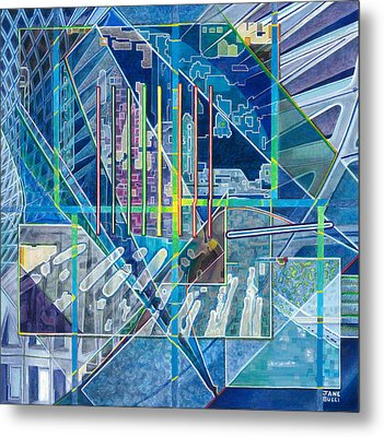 Blue City Day Metal Print by Jane Bucci