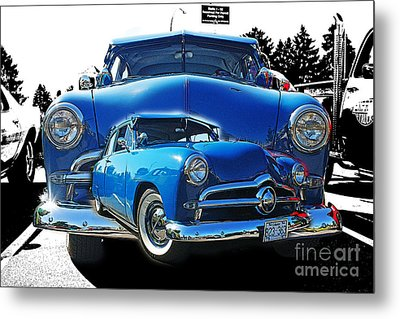 Blue Classic Dbl.hdr Metal Print by Randy Harris
