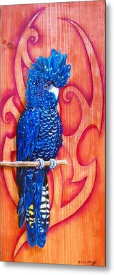Blue Cockatoo Metal Print by Diana Shively