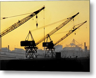 Metal Print featuring the photograph Blue Collar Sunset by Mike Flynn