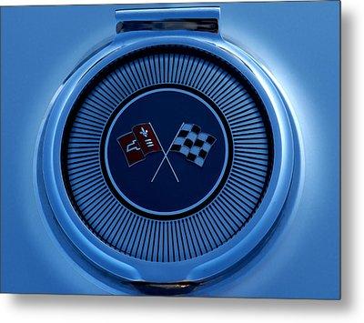 Blue Corvette Badge Metal Print