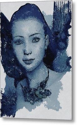 Blue Fae Metal Print by Maynard Ellis