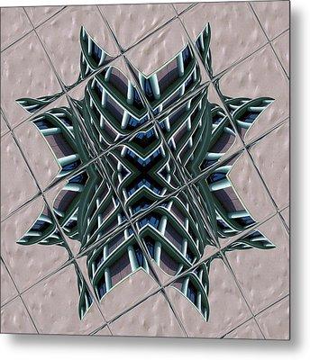 Blue Fire Metal Print