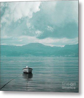 Blue Fjord Metal Print by Sonya Kanelstrand